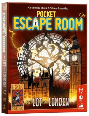 999 Games: Pocket Escape Room Het lot van Londen - kaartspel