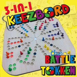 Keezbord: 3in1 Keezbord, Tokken en The Battle - bordspel