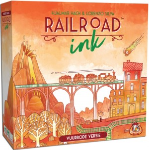 White Goblin Games: Railroad Ink Vuurrode versie - tekenspel