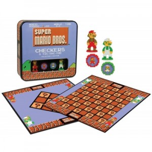 Super Mario Bros Checkers & Tic Tac Toe - Engelstalig bordspel