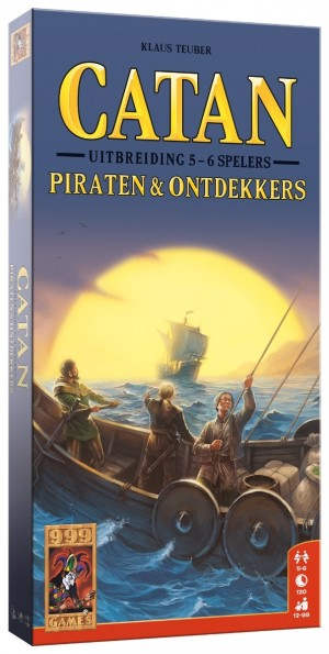999 Games: Kolonisten van Catan Piraten en Ontdekkers 5/6 spelers - bordspel