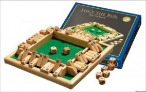 Philos: Shut the Box 1 t/m 4 spelers - houten spel